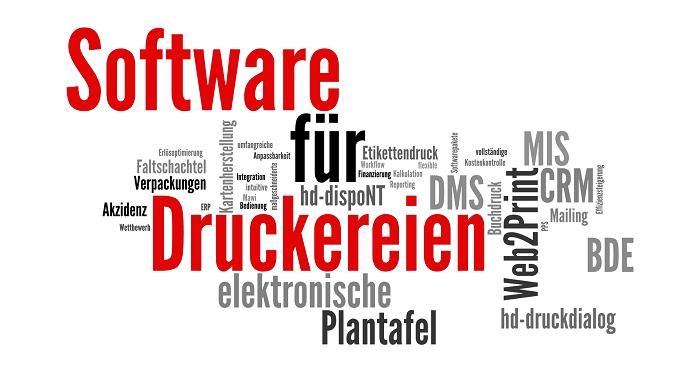 Übersicht Software Druckerei
